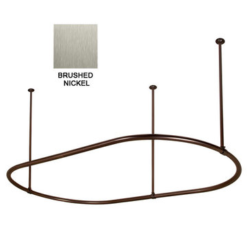 Barclay 30 Inch X 54 Inch Oval Shower Curtain Ring