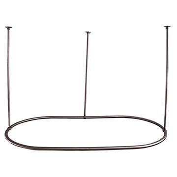 Barclay 30 Inch x 60 Inch Oval Shower Curtain Ring