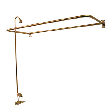 Barclay 54 Inch D-Rod Shower Unit With Above Rim Spout & Shower Head