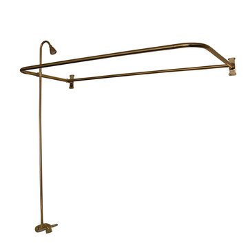 Barclay 60 Inch D-Rod Shower Unit With Shower Head