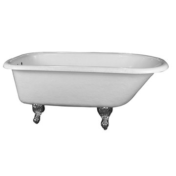 Barclay Acrylic White Roll Top Tub - No Feet
