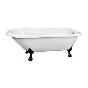 Barclay Baroque Acrylic Roll Top Tub - 7 Inch Holes