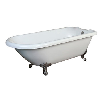 Barclay Beaumont Acrylic Roll Top Tub - No Faucet Holes