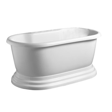 Barclay Brittany Acrylic Double Roll Tub With Base - No Faucet Holes Or Overflow