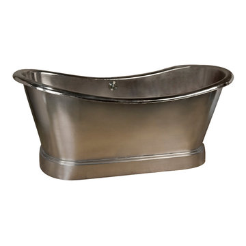 Barclay Cahill Bateau Nickel Plated Copper Tub With Base - No Faucet Holes