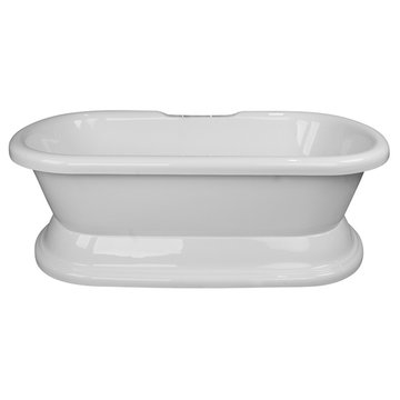 Barclay Calliope Acrylic Double Roll Tub With Base - No Faucet Holes