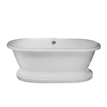 Barclay Carlotta Acrylic Double Roll Tub With Base - 7 Inch Holes