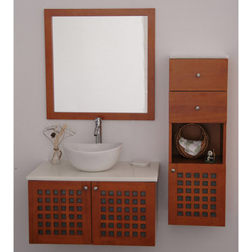 Barclay Ceylon Wall Hung Basin Cabinet With Top