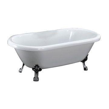 Barclay Chandler Acrylic Double Roll Tub - No Overflow