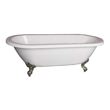 Barclay Chantal Acrylic Double Roll Tub - No Overflow