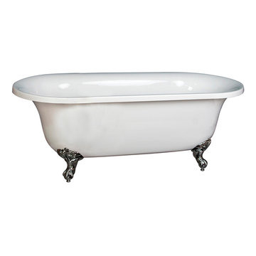 Barclay Chatsworth Acrylic Double Roll Tub - No Overflow
