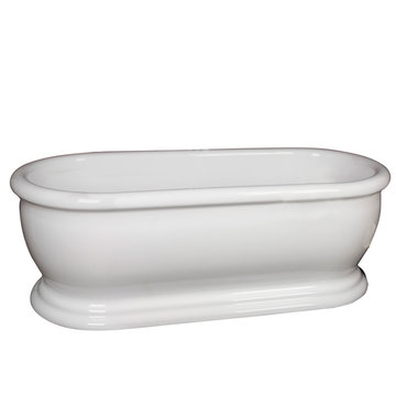 Barclay Claremont Acrylic Double Roll Tub - No Overflow