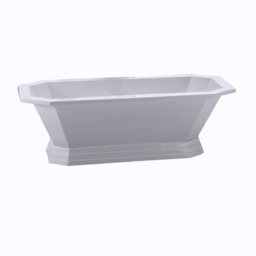 Barclay Concordia Acrylic Octagon Tub With Base - No Faucet Holes Or Overflow