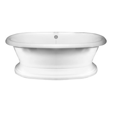 Barclay Cordova Acrylic Double Roll Tub With Base - 7 Inch Holes