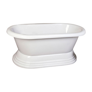 Barclay Corsica Double End Acrylic Tub With Stepped Base With 7 Inch Holes
