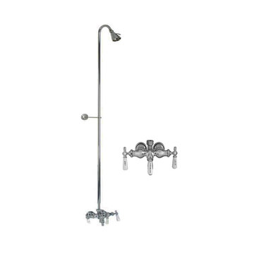 Barclay Diverter Faucet For Cast Iron Tubs With Riser & Brass Shower Head