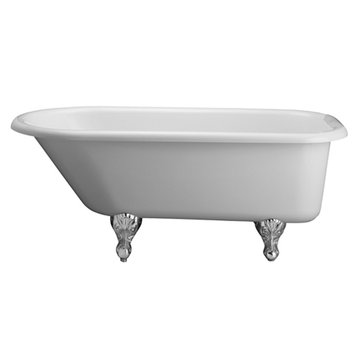 Barclay Double Acrylic Bisque Roll Top Tub - No Feet