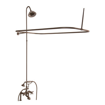 Barclay Elephant Spout Shower Unit Set - Metal Cross
