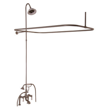 Barclay Elephant Spout Shower Unit Set - Porcelain Lever