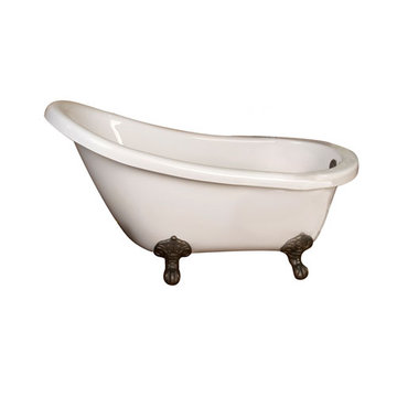 Barclay Emmett Acrylic Slipper Tub - No Faucet Holes