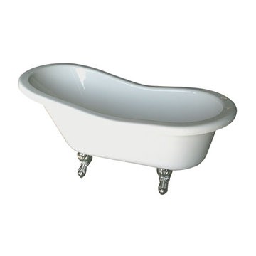 Barclay Fillmore Double Slipper Bisque Acrylic Tub - No Faucet Holes
