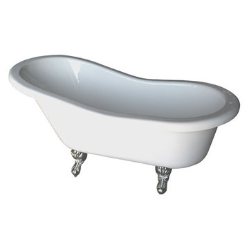 Barclay Fillmore Double Slipper White Acrylic Tub - No Faucet Holes