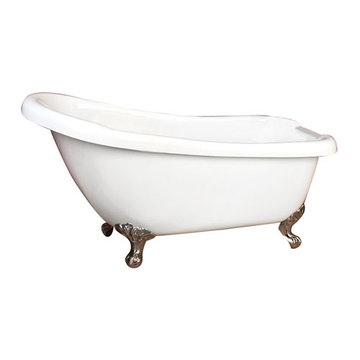 Barclay Fortuna Acrylic Slipper Tub - 7 Inch Holes