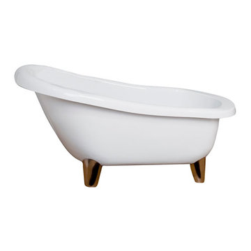 Barclay Franco Acrylic Slipper Tub - No Faucet Holes Or Overflow
