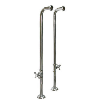 Barclay Freestanding 34 Inch Tub Supplies With Cross Handle Stops