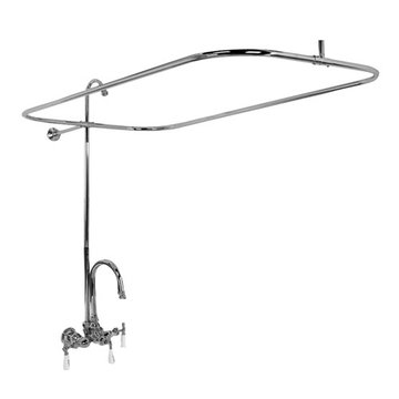 Barclay Gooseneck Shower Unit For Cast Iron Tubs - No Shower Head