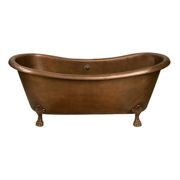 Barclay Graham Double Slipper Copper Tub - 7 Inch Holes