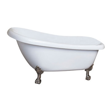 Barclay Heather Acrylic Slipper Tub - 7 Inch Holes