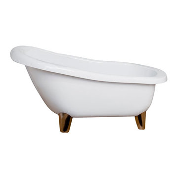 Barclay Jacob Acrylic Slipper Tub - 7 Inch Holes