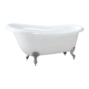 Barclay Latham Acrylic Slipper Tub - No Faucet Holes Or Overflow
