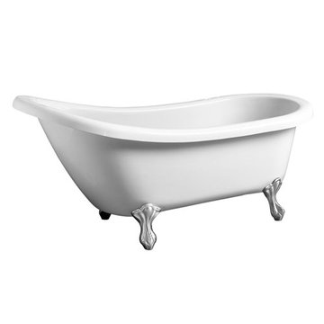 Barclay Legacy Acrylic Slipper Tub - No Faucet Holes