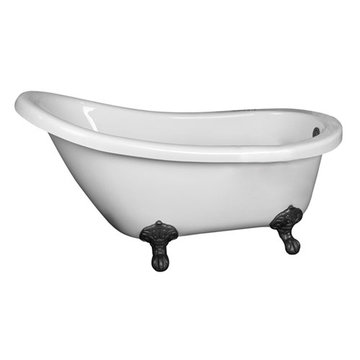 Barclay Lenora Acrylic Slipper Tub - No Faucet Holes