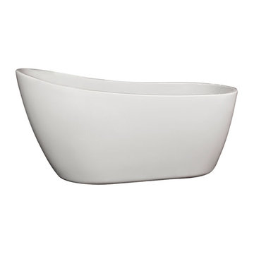 Barclay Lorenzo Acrylic Slipper Tub - No Faucet Holes Or Overflow