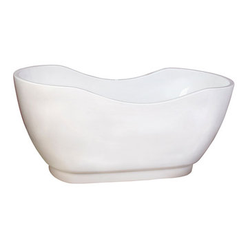 Barclay Madison Acrylic Double Slipper Tub - No Faucet Holes Or Overflow