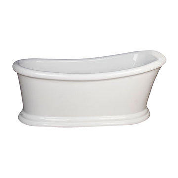 Barclay Mallory Acrylic Slipper Tub - No Faucet Holes Or Overflow