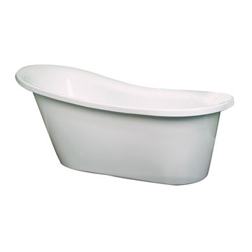 Barclay Mansfield Acrylic Slipper Tub - No Faucet Holes Or Overflow