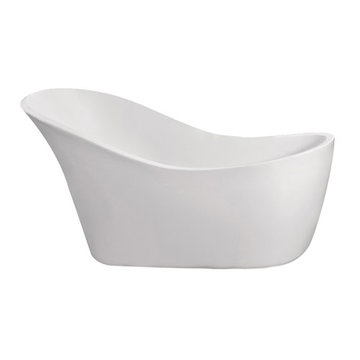 Barclay Mcguire Acrylic Slipper Tub - No Faucet Holes Or Overflow