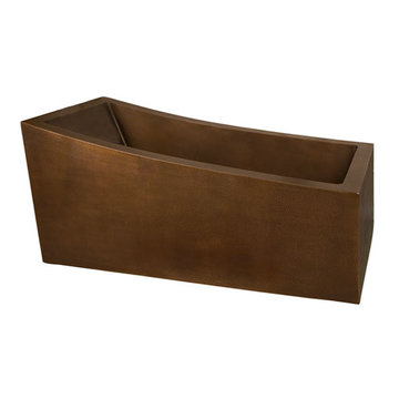 Barclay Medora Rectangular Copper Slipper Tub - No Faucet Holes