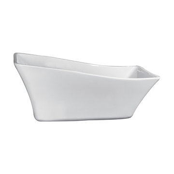 Barclay Melanie Acrylic Slipper Tub - No Faucet Holes Or Overflow