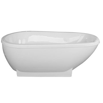 Barclay Merlin Acrylic Oval Tub - No Faucet Holes Or Overflow