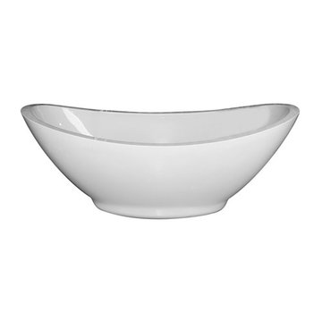 Barclay Montrose Acrylic Double Slipper Tub With Base - No Faucet Holes Or Overflow