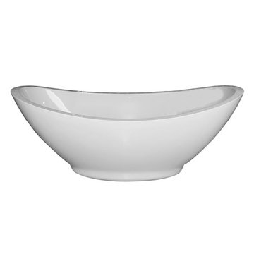 Barclay Mozart Acrylic Double Slipper Tub With Base - No Faucet Holes Or Overflow