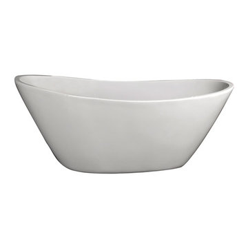 Barclay Nickelby Acrylic Double Slipper Tub - No Faucet Holes Or Overflow