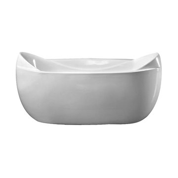 Barclay Noelle Acrylic Double Slipper Tub - No Faucet Holes Or Overflow