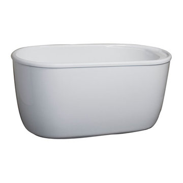 Barclay Onyx Acrylic Oval Tub - 7 Inch Holes
