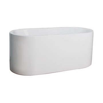 Barclay Palermo Acrylic Oval Tub - No Faucet Holes Or Overflow